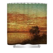 Landscape With Trees At The Rivers Shower Curtain
