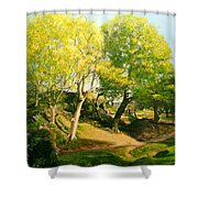Landscape With Trees In Wales Shower Curtain