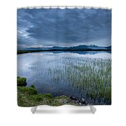 Landscape With Water Grass Shower Curtain