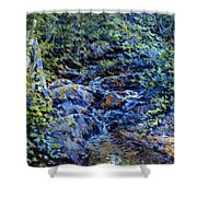 Landscape With Waterfall 1890 Shower Curtain