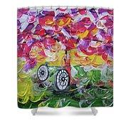 Landscape Women Bike Shower Curtain