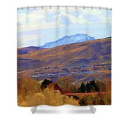 Landscape Wyoming State  Shower Curtain