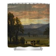 Landscape_with_cattle Shower Curtain