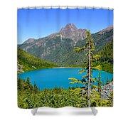 Landslide Lake Shower Curtain