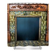 Lane-hooven House Antique Fireplace Shower Curtain