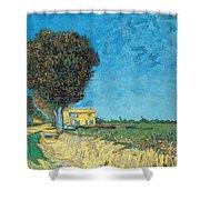 Lane Near Arles Shower Curtain