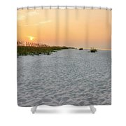 Langdon Beach Sunrise 5 - Pensacola Beach Florida Shower Curtain