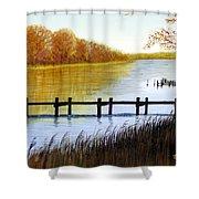 Langford Bay Shower Curtain