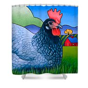 Langley The Island Girl Shower Curtain