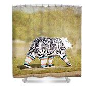 Language Bear Shower Curtain