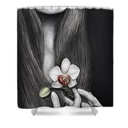 Language Of The Heart Shower Curtain by Pat Erickson