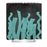 Languettes 02 - Aqua Shower Curtain