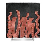 Languettes 02 - Orange 2 Shower Curtain