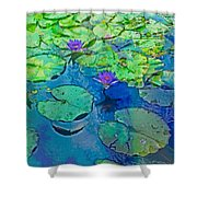 Languid Lagoon Shower Curtain