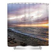 Laniakea Beach Sunset Shower Curtain