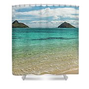 Lanikai Beach 4 Pano - Oahu Hawaii Shower Curtain