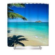Lanikai Beach Shower Curtain
