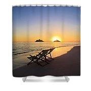 Lanikai Lounging At Sunrise Shower Curtain