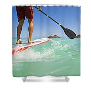Lanikai Stand Up Paddling Shower Curtain