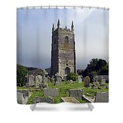 Lansallos Church Cornwall Shower Curtain