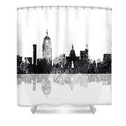 Lansing Michigan Skylines Shower Curtain