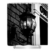 Lantern Black And White Shower Curtain