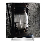 Lantern Blue Shower Curtain