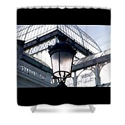 Lantern In Front Of The Crystal Palace, Madrid Shower Curtain