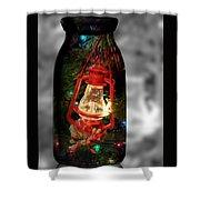 Lantern In Glass Jar Shower Curtain