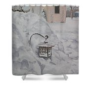 Lantern In The Snow Shower Curtain