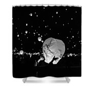 Lantern Liftoff Shower Curtain