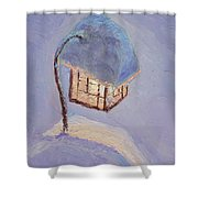 Lantern Light On A Snowy Evening Shower Curtain