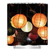 Lanterns 50 Percent Off Shower Curtain