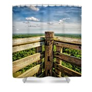 Lapham Peak Wisconsin - View From Wooden Observation Tower Shower Curtain