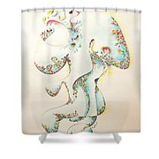 Lapis Lazuli Bejeweled Fertility Goddess Shower Curtain