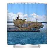 Large Banana Boat Shower Curtain