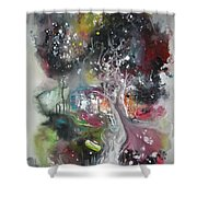 Large Color Fever Abstract25-original Abstract Painting Shower Curtain