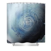 Large Earth Storm Shower Curtain