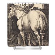 Large Horse Shower Curtain