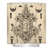 Large Pendant, Temperance Standing At Centre Shower Curtain