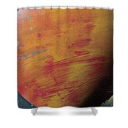 Large Red Planet #1 Shower Curtain