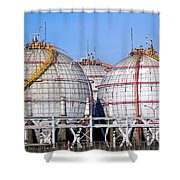 Large Spherical Sotrage Tanks Shower Curtain