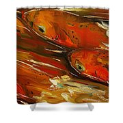 Large Trout Stream Fly Fish Shower Curtain