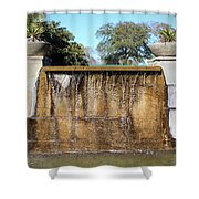 Large Water Fountain Shower Curtain