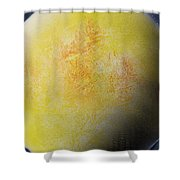 Large Yellow Planet Shower Curtain