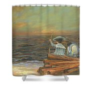Little Mariners Shower Curtain