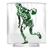 Larry Bird Boston Celtics Pixel Art 10 Shower Curtain