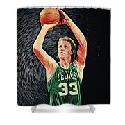 Larry Bird Shower Curtain