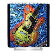 Larry Carlton Guitar Shower Curtain