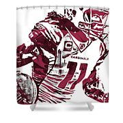 Larry Fitzgerald Arizona Cardinals Pixel Art 1 Shower Curtain